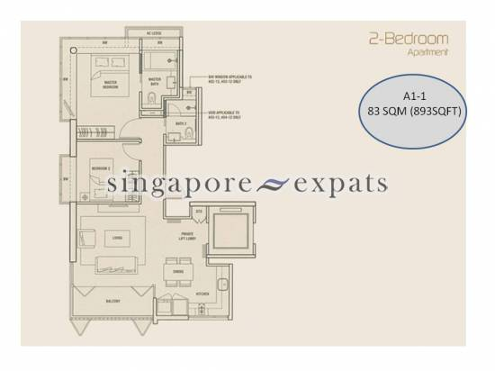 Shelford Suites For Sale 2 Bedroom 893 Sqft 1600000